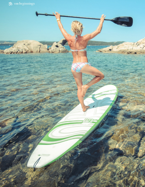 Om Yoga Magazine SUP yoga