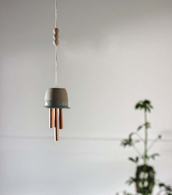 Ceramic & Copper Wind Chimes - Poppytalk