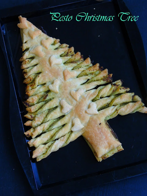 Pesto Puff Pastry Tree, Flaky ChristmasTree
