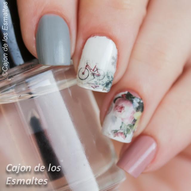 Pegatinas para uñas - Uñas primaverales