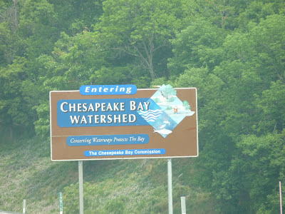 Entering Chespapeake Watershed
