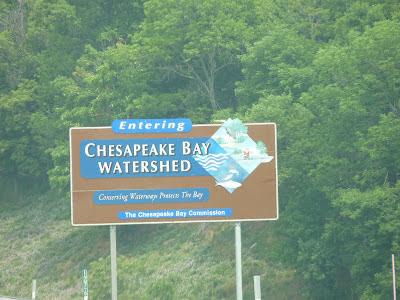 Entering Chespapeake Watershed