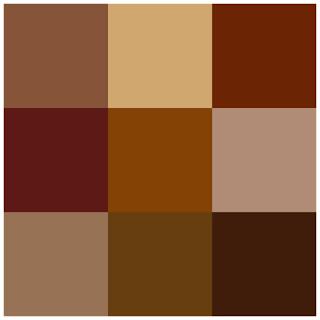 Tonalidades de color marrón