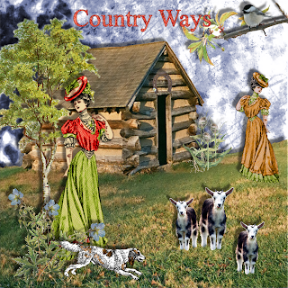 "Free scrapbook kit ""Country Ways"" from JennyJennyJenny"
