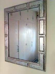 Transformar con pan de plata un espejo for Espejos con marco color plata
