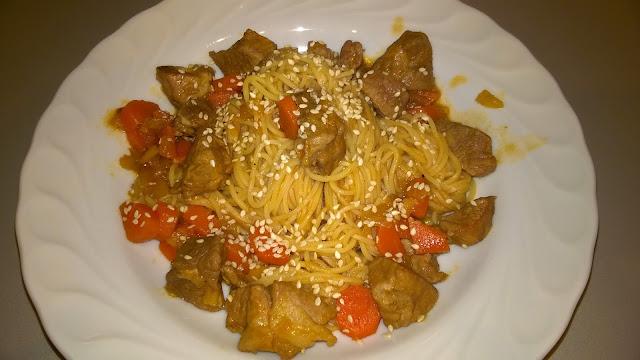 Sauté de porc à l'asiatique