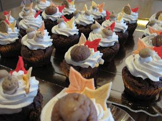 cupcakes autunnali alle castagne