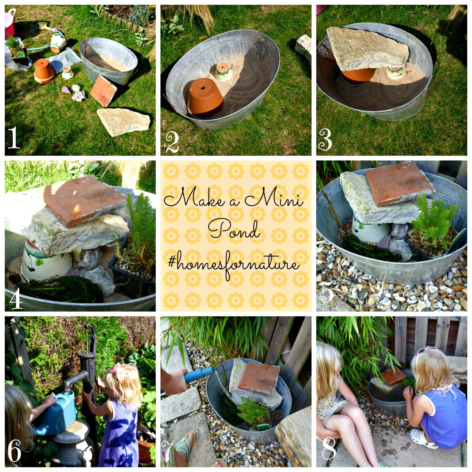 Rollercoaster mum making a mini pond for wildlife for the for Making ponds for a garden