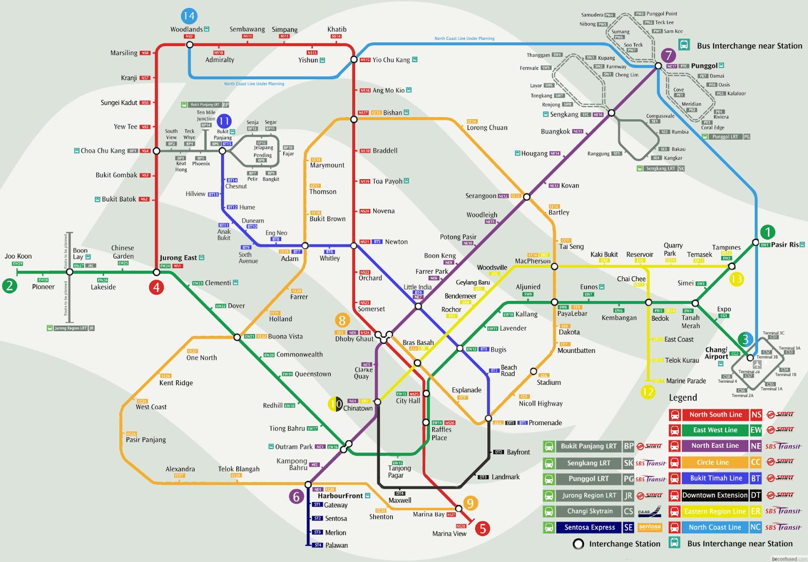 Bien connu MRT Singapour, le métro - train singapourien - Singapour EG79