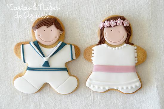 Galletas decoradas para la Primera Comunión   tartas y nubes de azúcar