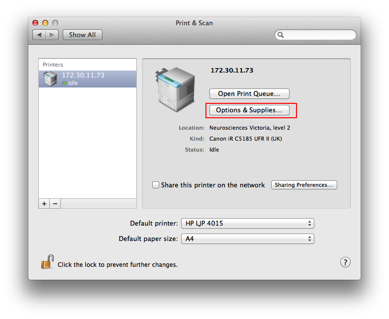 how to connect to a printer on a mac