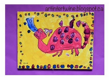 Art Activity For Kids - Dragon Paintings