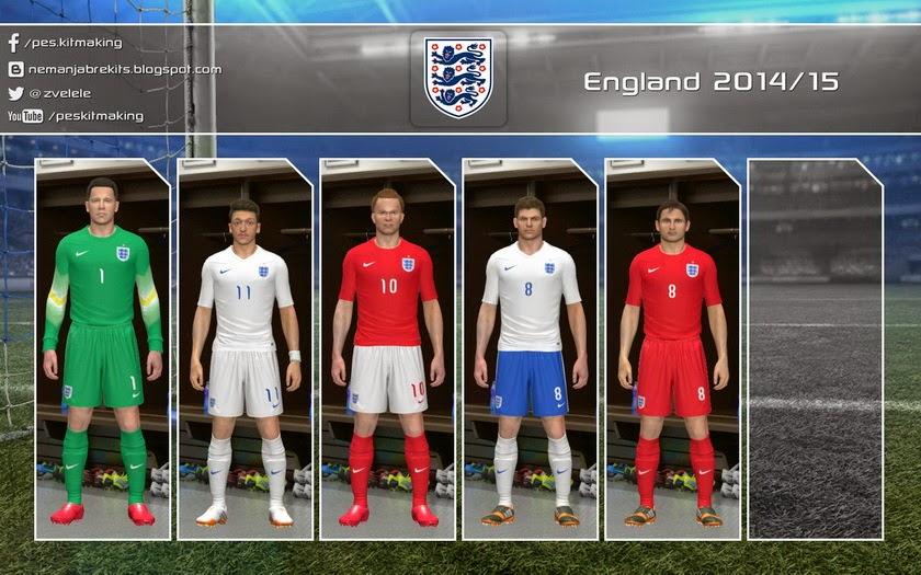 PES 2014 England 2014-15 GDB by Nemanja