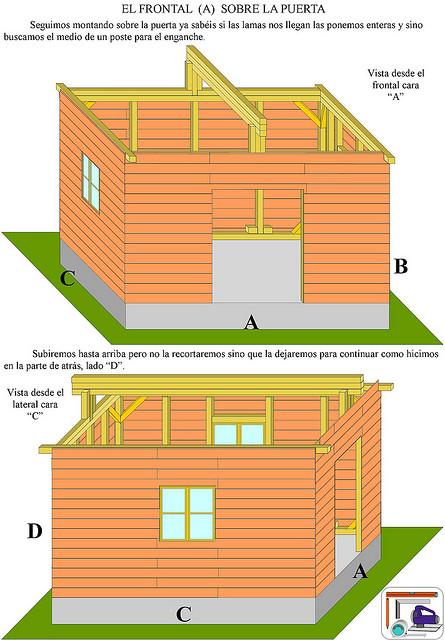 Como se hace tutoriales como hacer una casa de madera - Como hacer casa de madera ...