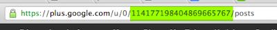 El ID es el número señalado en verde, cambia por cada usuario
