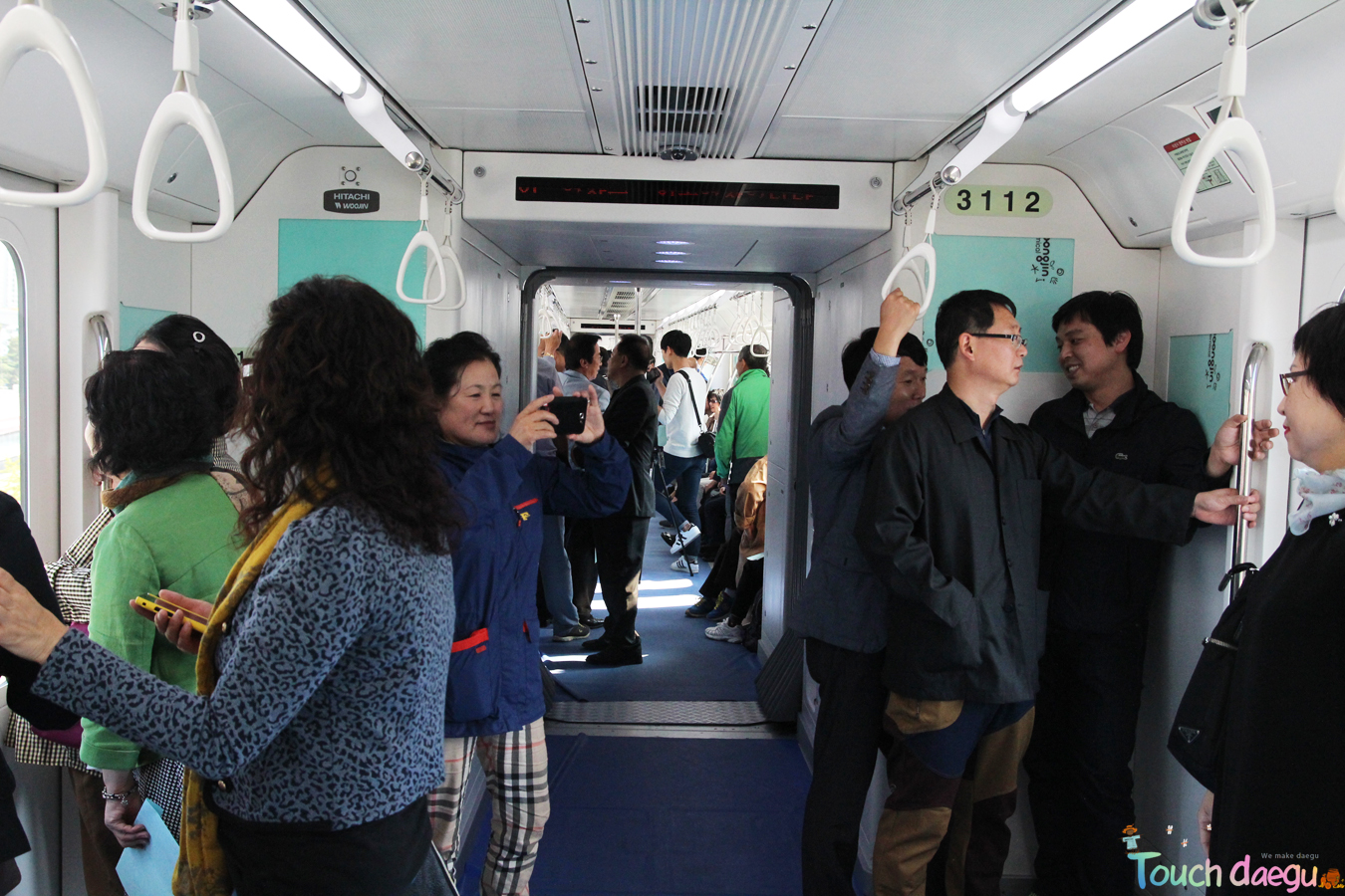 The interior of the monorail
