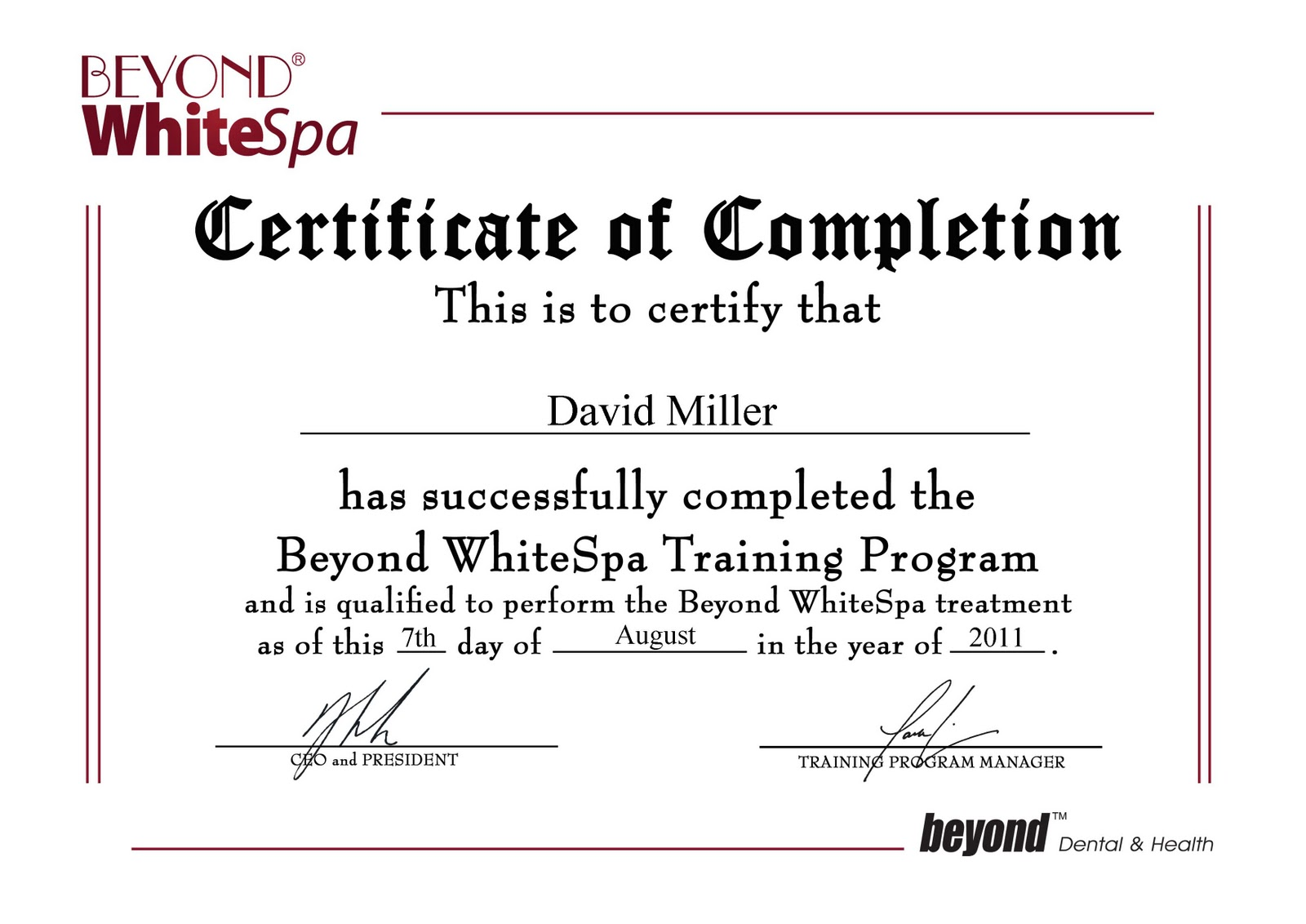 Certificate of completion training certificate designs templates certificate of completion of training template analysis paper beyond2bwhitespa2bcertificate david2bmiller yadclub Image collections