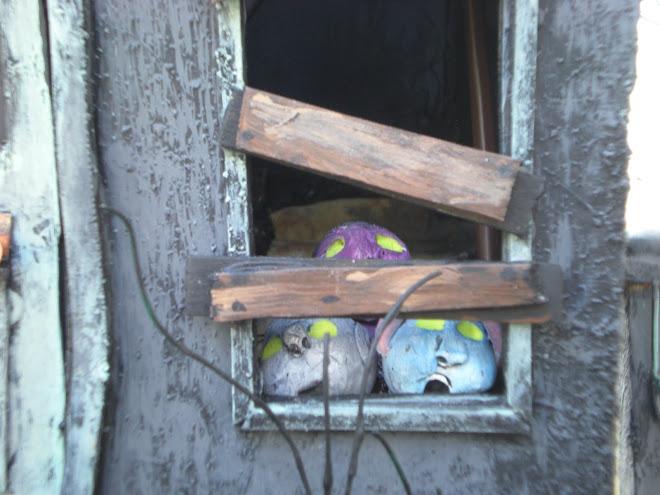 Creepy little misfit's peeking out of the windows