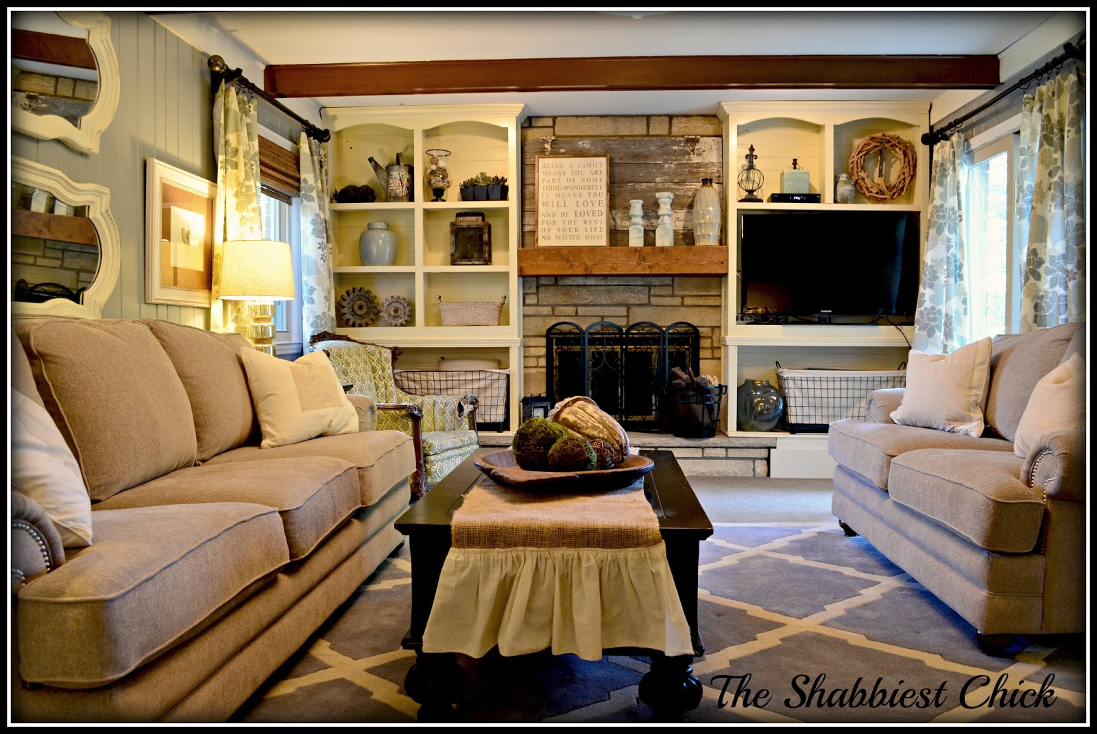Can you paint wood paneling a color - The Wall Color Is A Lowe S Color Called Stone Mason Gray Mixed In Benjamin Moore Advance Paint The Trim Is White Cloud Also Mixed In Bm Advance
