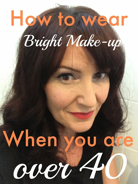 How to wear bright make-up when you're over 40