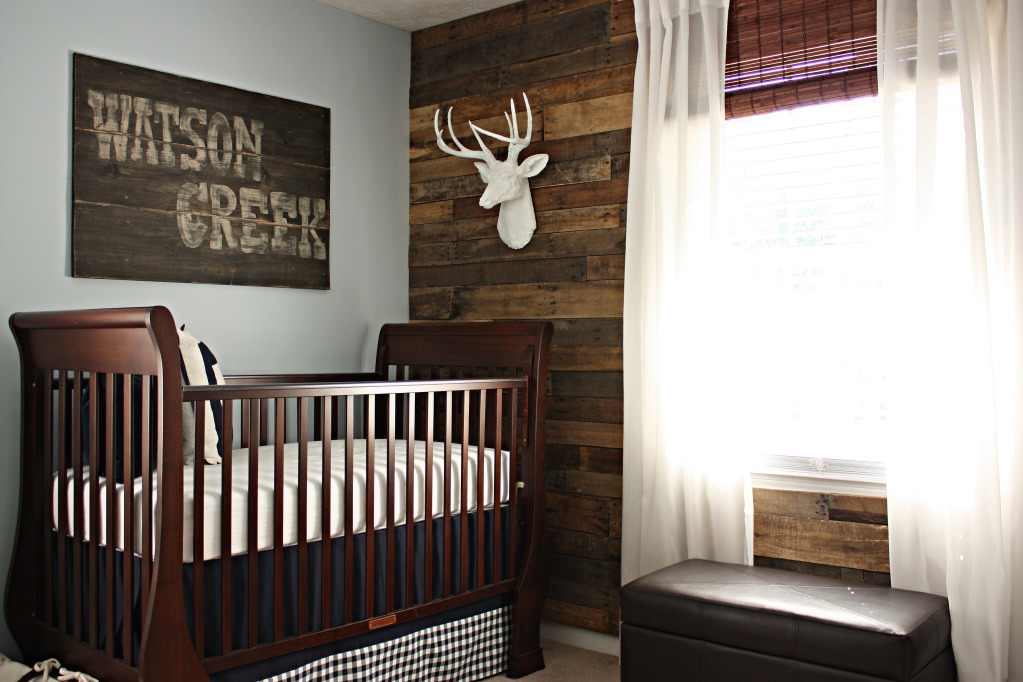 Custom nursery art by kimberly rustic nursery ideas - Baby nursey ideas ...