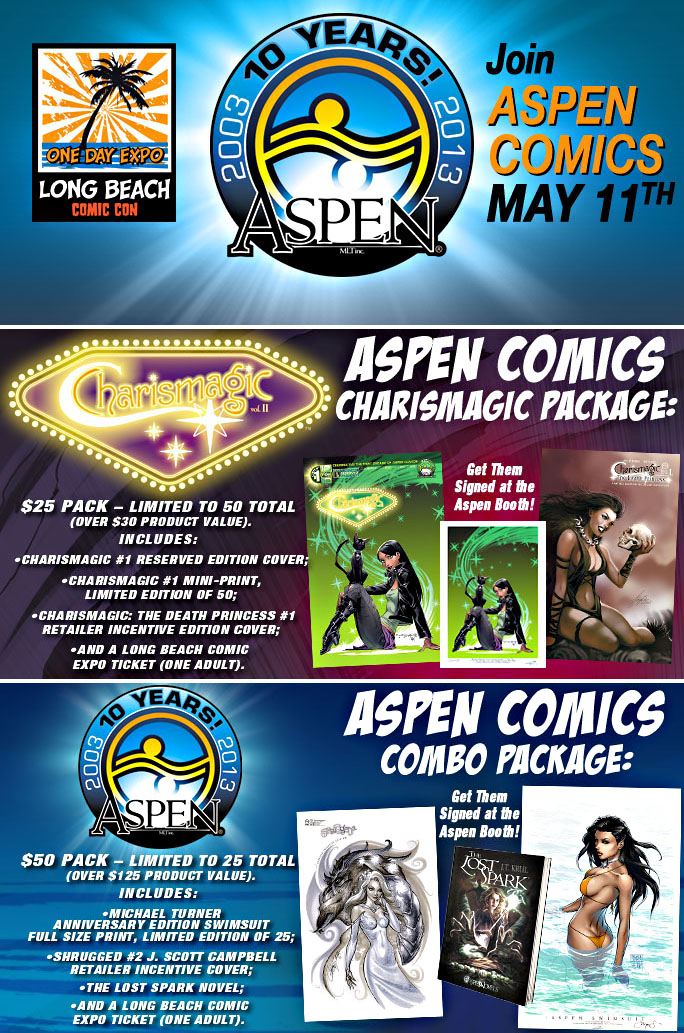 Long Beach Comic Expo Next Stop For Aspen Comics