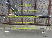 tempat tidur periksa stainless steel