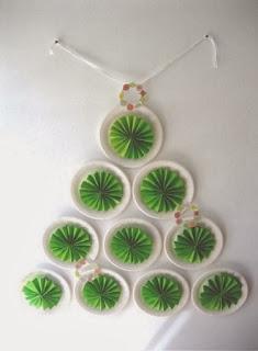 Arbol de Navidad con Platos Descartables y Papel, Manualidades Faciles Paso a Paso