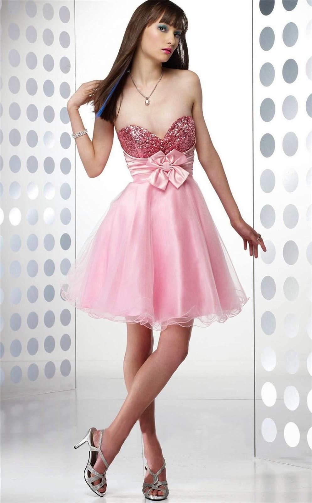 Vestidos color rosado