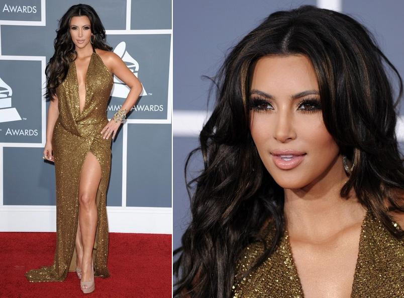 kim kardashian 2011 hair. 2011 Grammy Awards: Kim