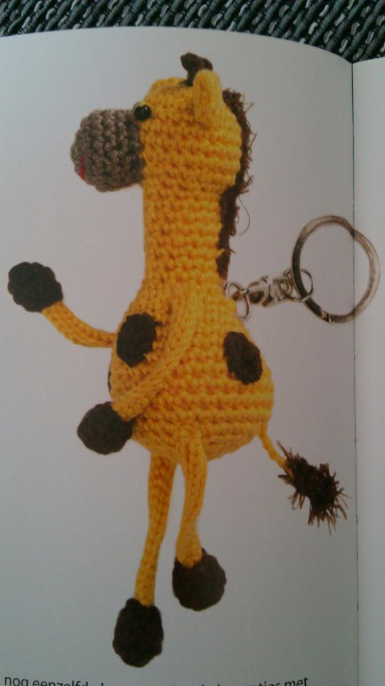 Sils Corner Gratis Patroon Gino De Giraffe Sleutelhanger