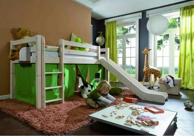 Decora hogar dormitorios con camarotes o literas modernas para ni os y ni as v deo tutorial - Tobogan para litera ...