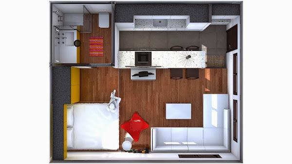 Minipiso de 13 decorar tu casa es for Decorar un minipiso