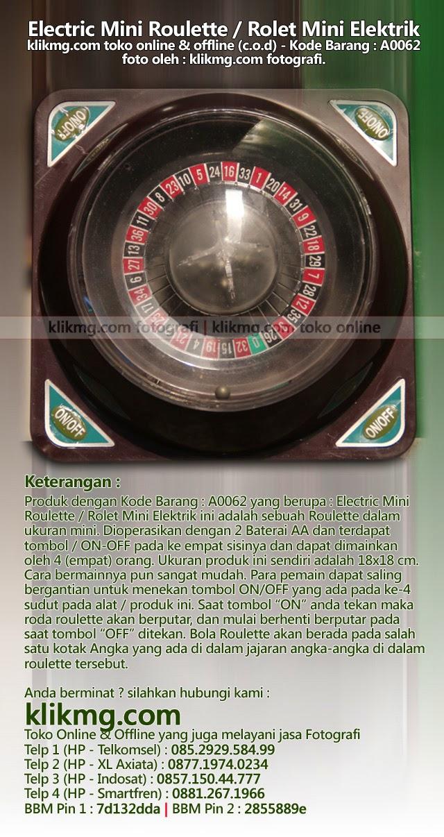 Electric Mini Roulette / Rolet Mini Elektrik - Kode Barang : A0062 | Klikmg toko online jujur & amanah