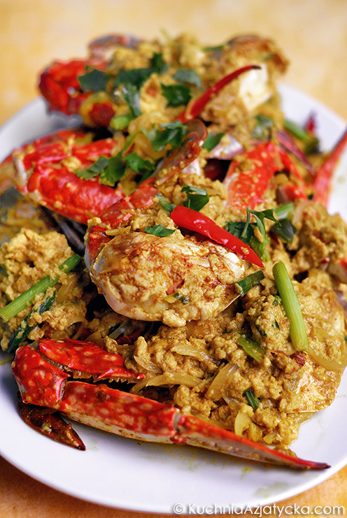 Smażony krab w przyprawie curry © KuchniaAzjatycka.com