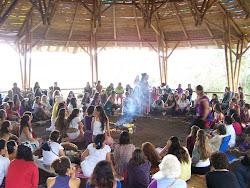 Circulo de Mujeres. Presentacion de las Guardianas. I Encuentro Iberoamericano de Ecoaldeas