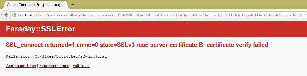 Carving in the Clouds: Faraday::SSLError certificate verify failed