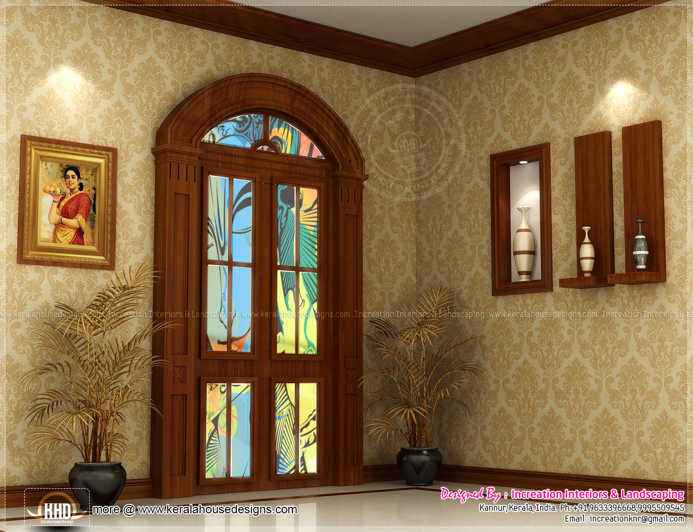 Interior designs by increation kannur kerala kerala for Kerala house living room interior design