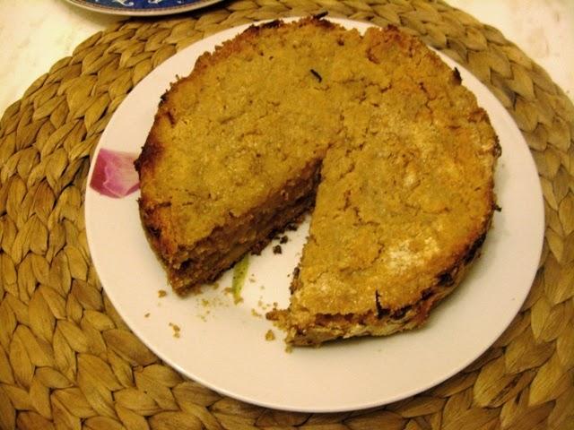 wegańska szarlotka; szarlotka sypana; jabłecznik; wegańskie ciasto