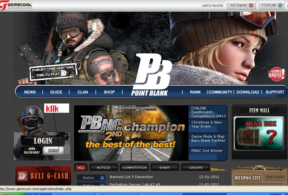 Point Blank Online Indonesia - pb.gemscool.com