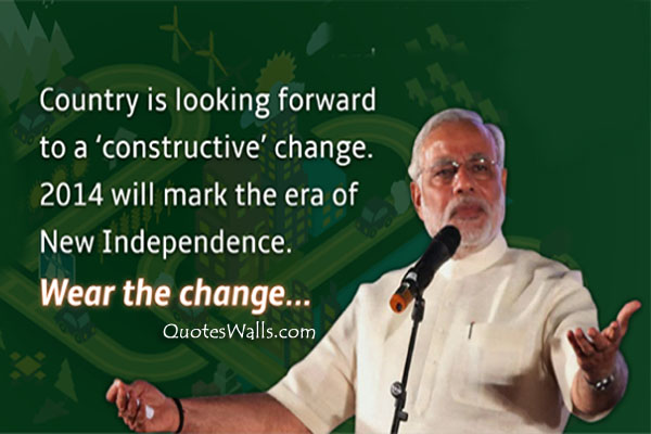 Narender Modi Independence Quotes Photos