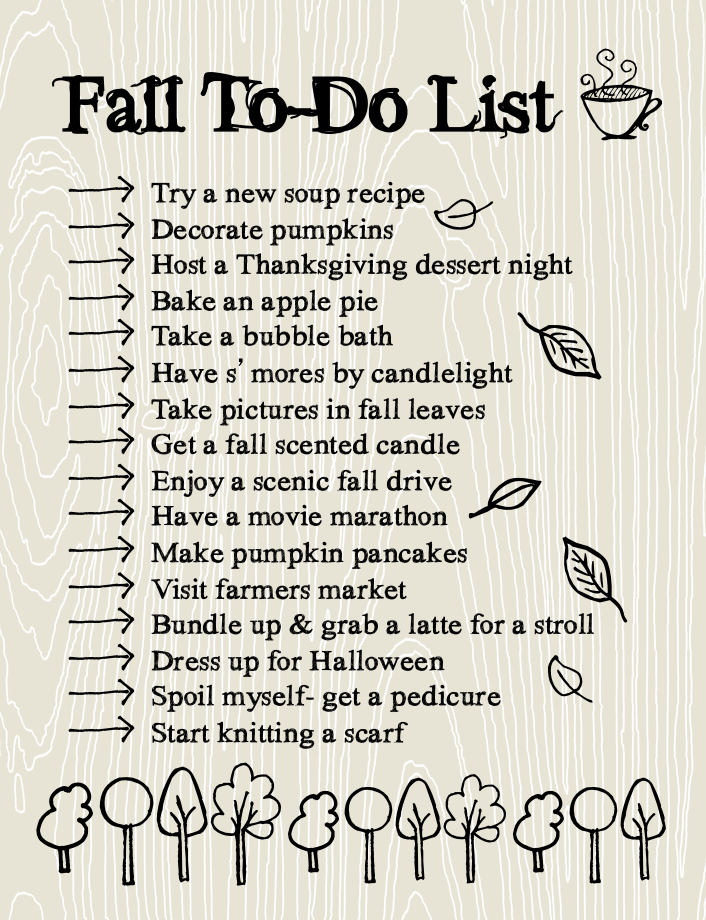 Fall To Do List- lemonthistle.blogspot.com