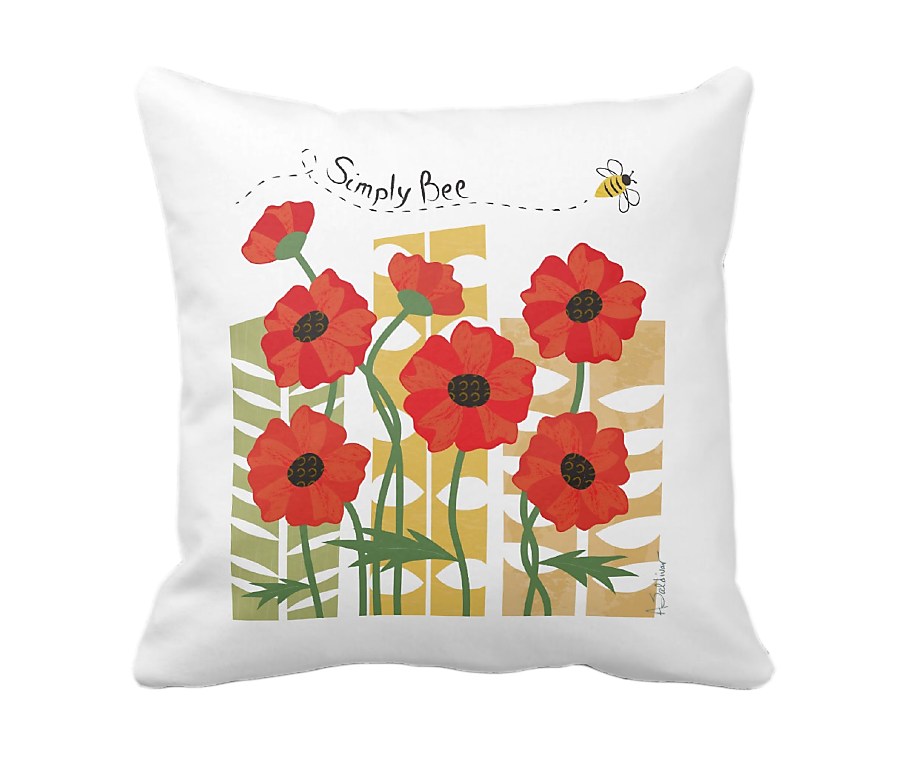 Poppy Patch Pillow