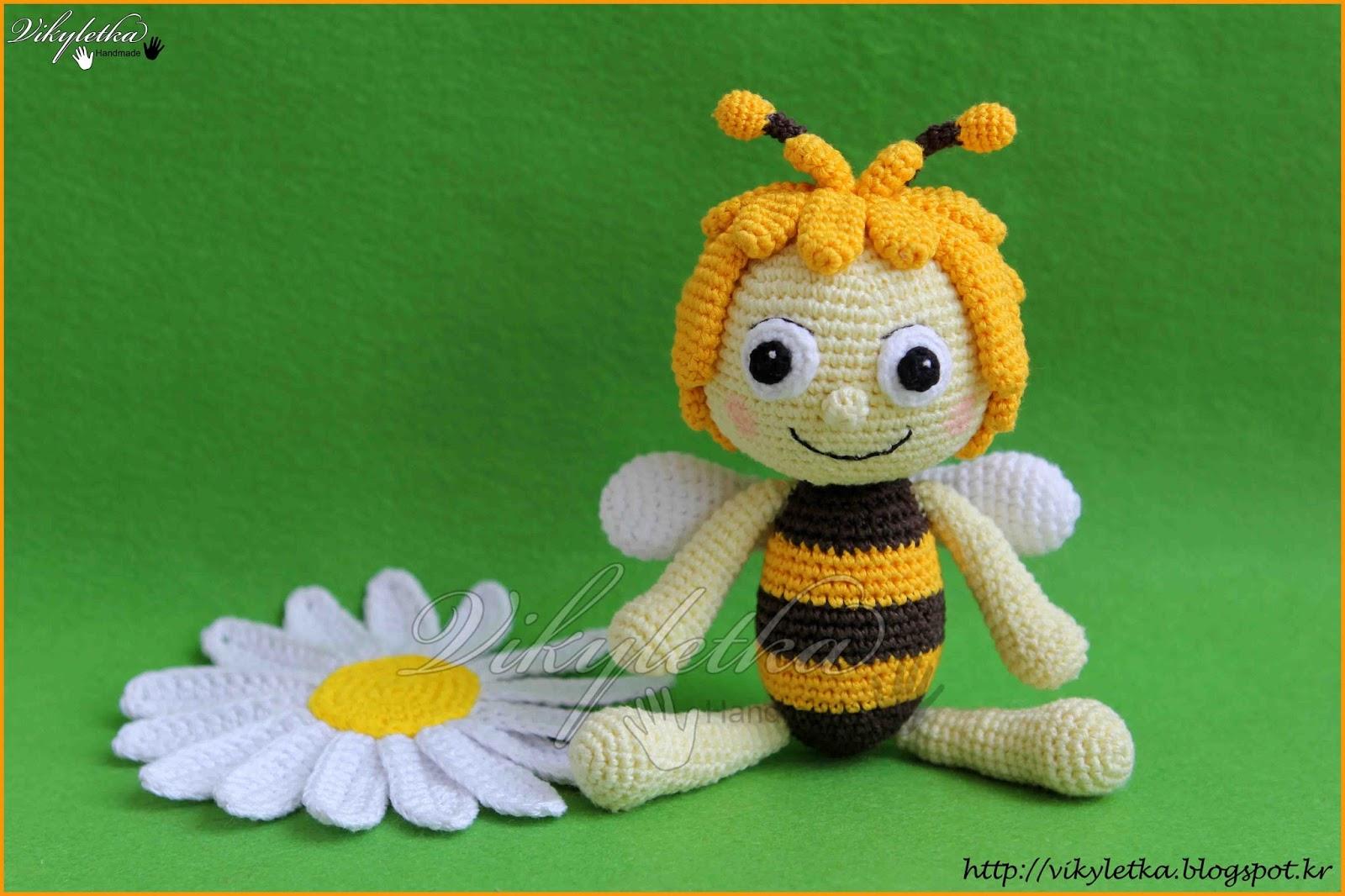 Вязание пчелка майя