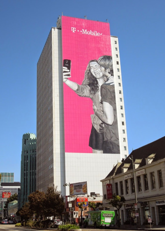 Giant T-Mobile selfie billboard