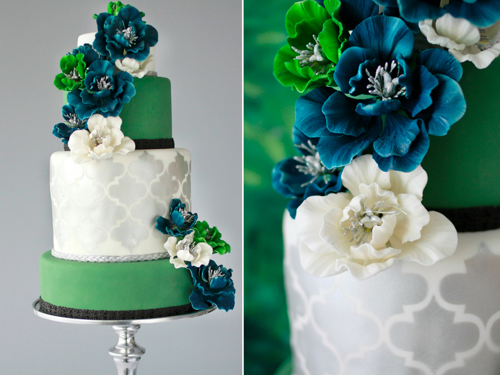 Wedding Cake Designs Blue And Green : Principal Planner Talks: Montreal Sweet Table: Urban Design