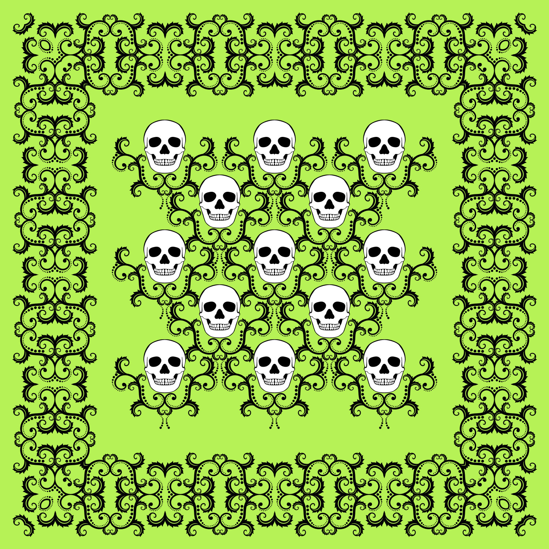 Skull damask pattern