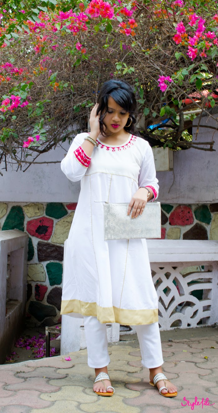 Kurta, Jewellery, Earrings, Bindi, Salwar, Indian, Traditional, Ethnic, Clutch, Side bun