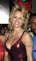 Barb wire tattoo,Pamela Anderson Tattoo,celebrity tattoos