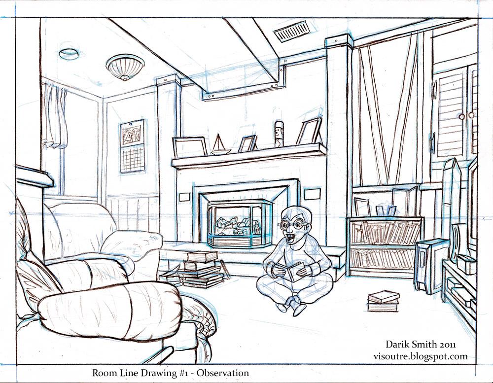 Line Drawing Room : Darik s art august